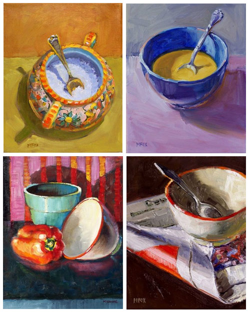 Oil paintings - Bowls